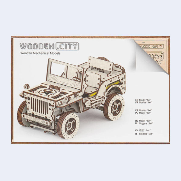 Jeep with Trailer, Mechanical 3D Puzzle